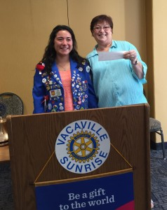 Vacaville Rotary Exchange student donation