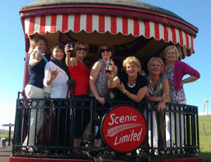 Soroptimists on the Vintage Comet Wine Tasting Train, 2016